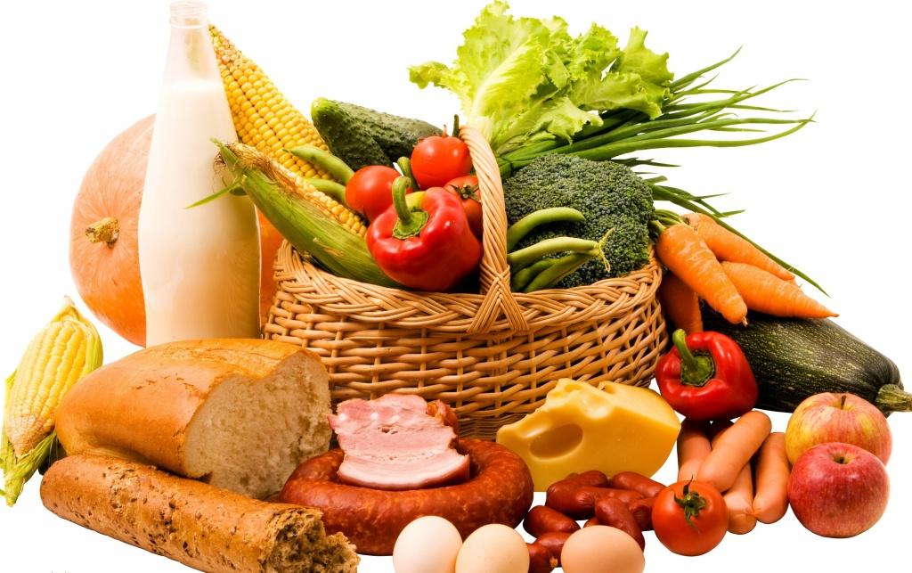 Фото с продуктами питания